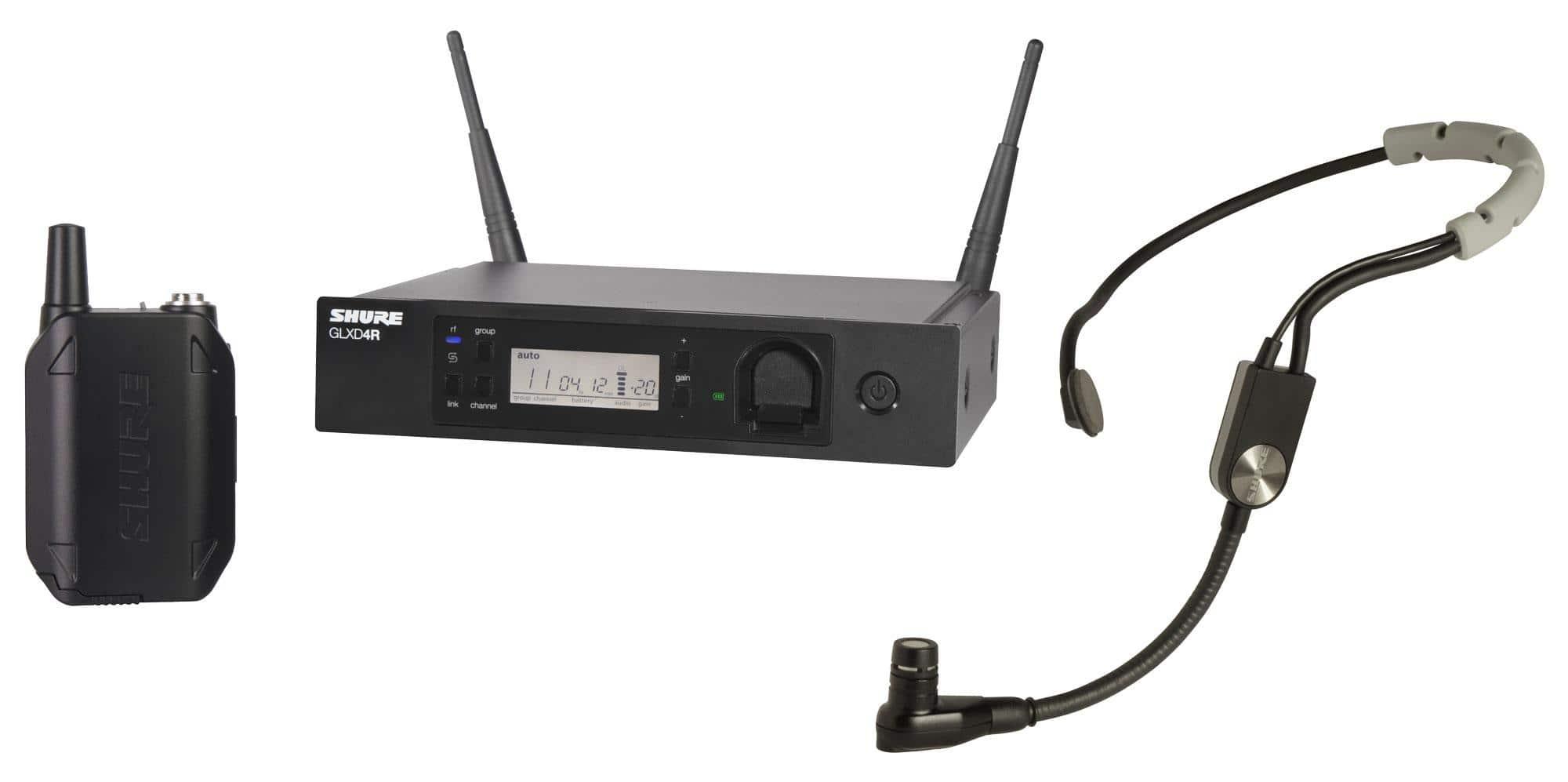 Shure GLXD14R|SM35 Digitales Funksystem mit SM35 Headset