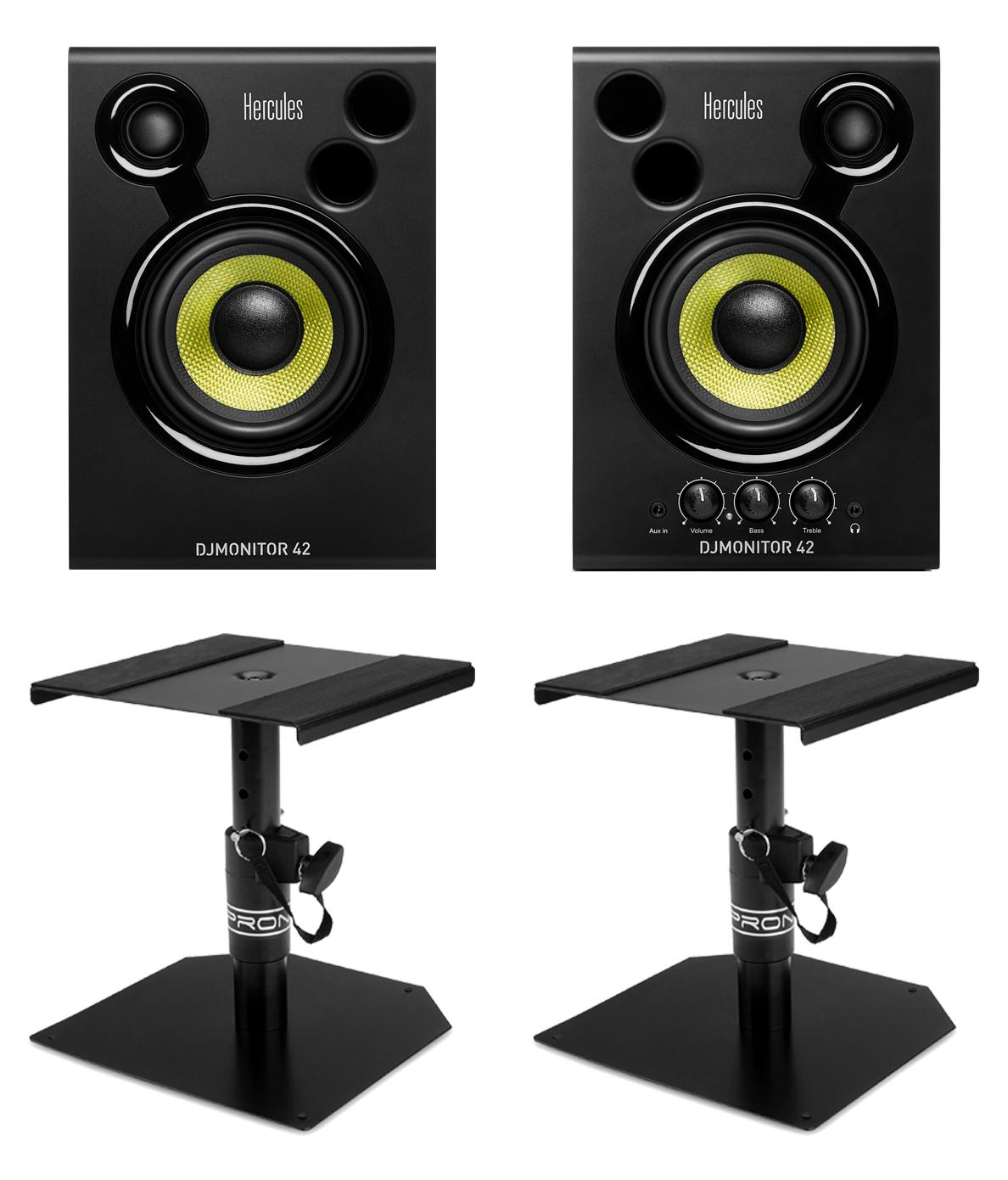Studiomonitore - Hercules DJMonitor 42 Tischstativ Set - Onlineshop Musikhaus Kirstein