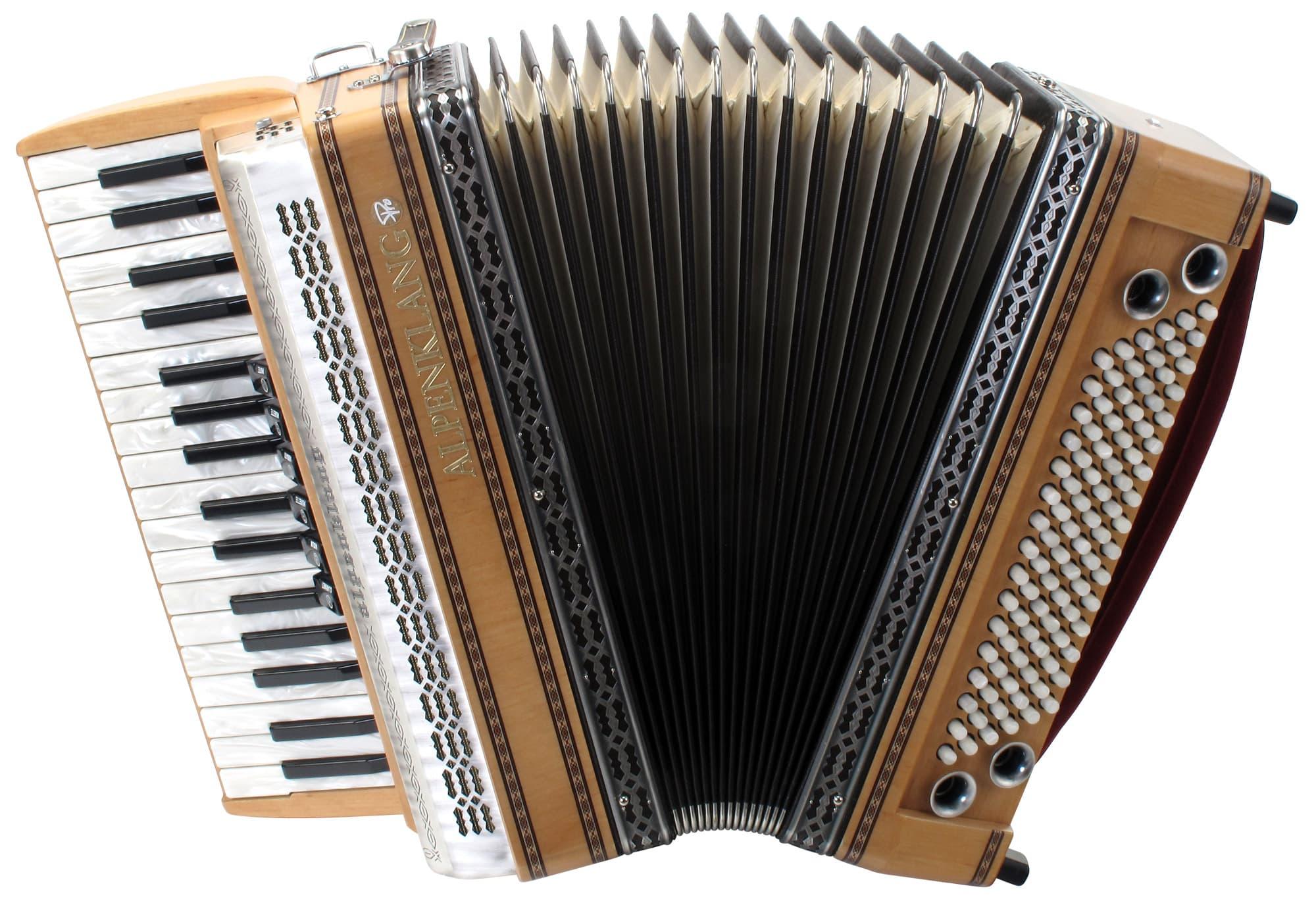 Akkordeons - Alpenklang Pro Akkordeon III 96 Tasten Steirische Erle, weißer Balg - Onlineshop Musikhaus Kirstein