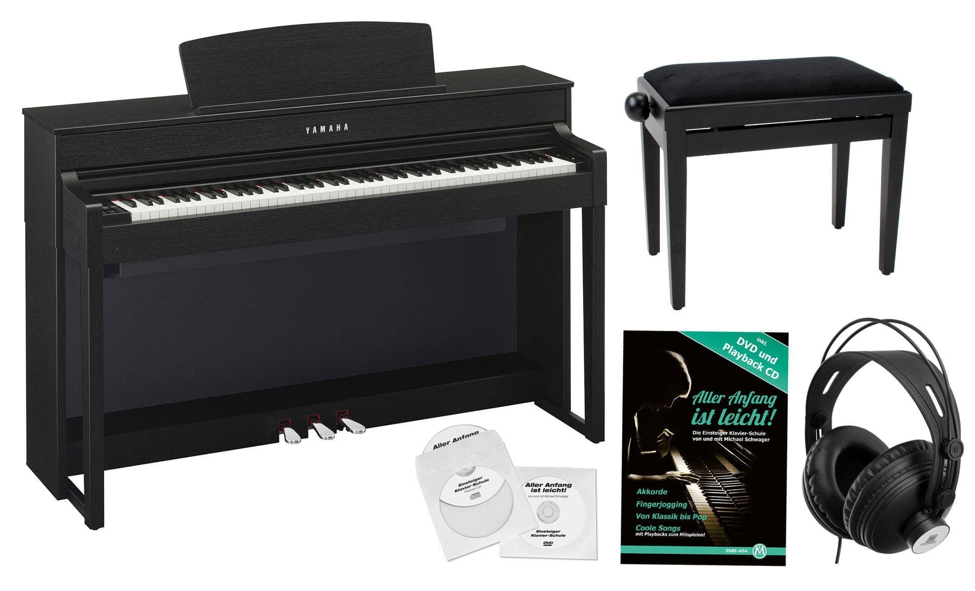 yamaha clp 575 b digitalpiano schwarznuss set. Black Bedroom Furniture Sets. Home Design Ideas