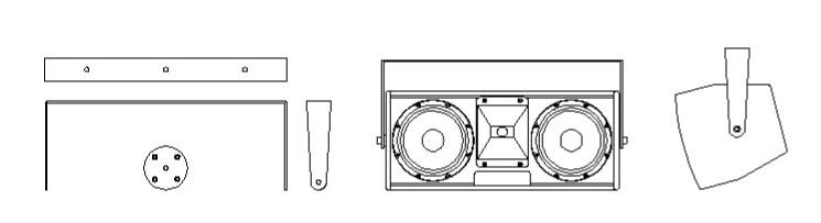 Acoustic Line Aufnahmebügel für A3 Box Quermontage