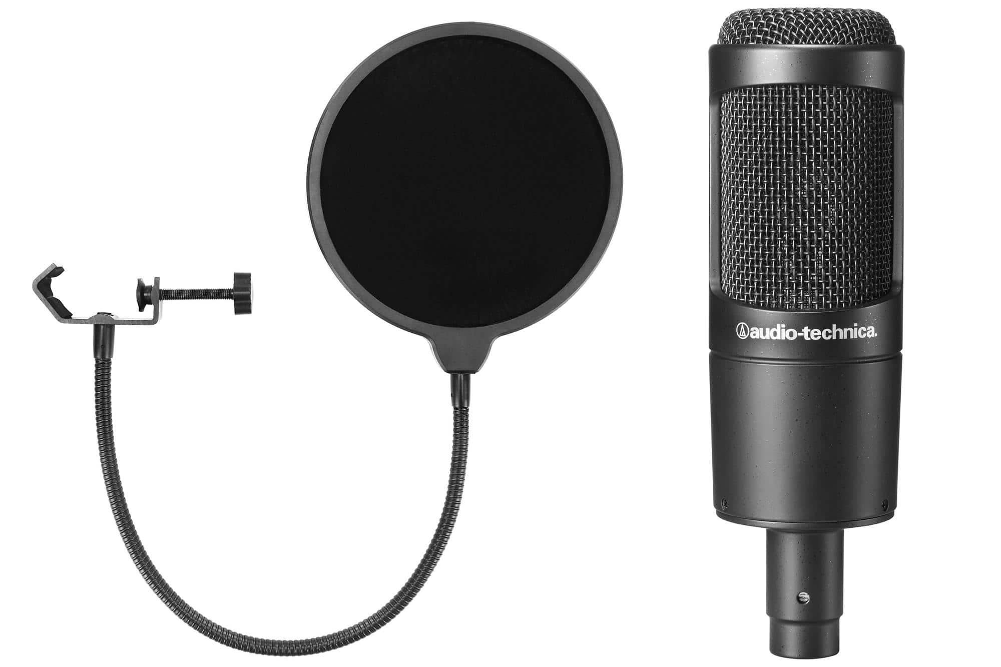 Audio Technica AT2035 Kondensatormikrofon Set inkl. Popkiller