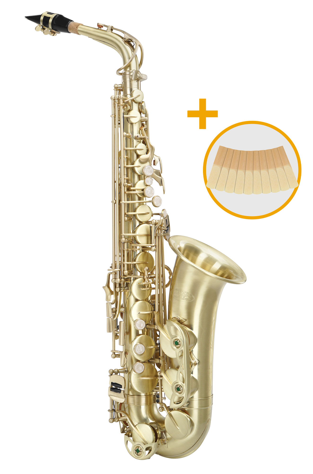 Saxophone - Classic Cantabile AS 450 Brushed Es Altsaxophon Set - Onlineshop Musikhaus Kirstein