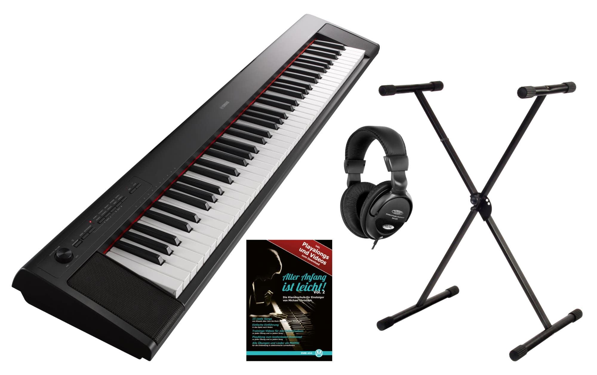 Yamaha NP 32 Portable Piano schwarz Set
