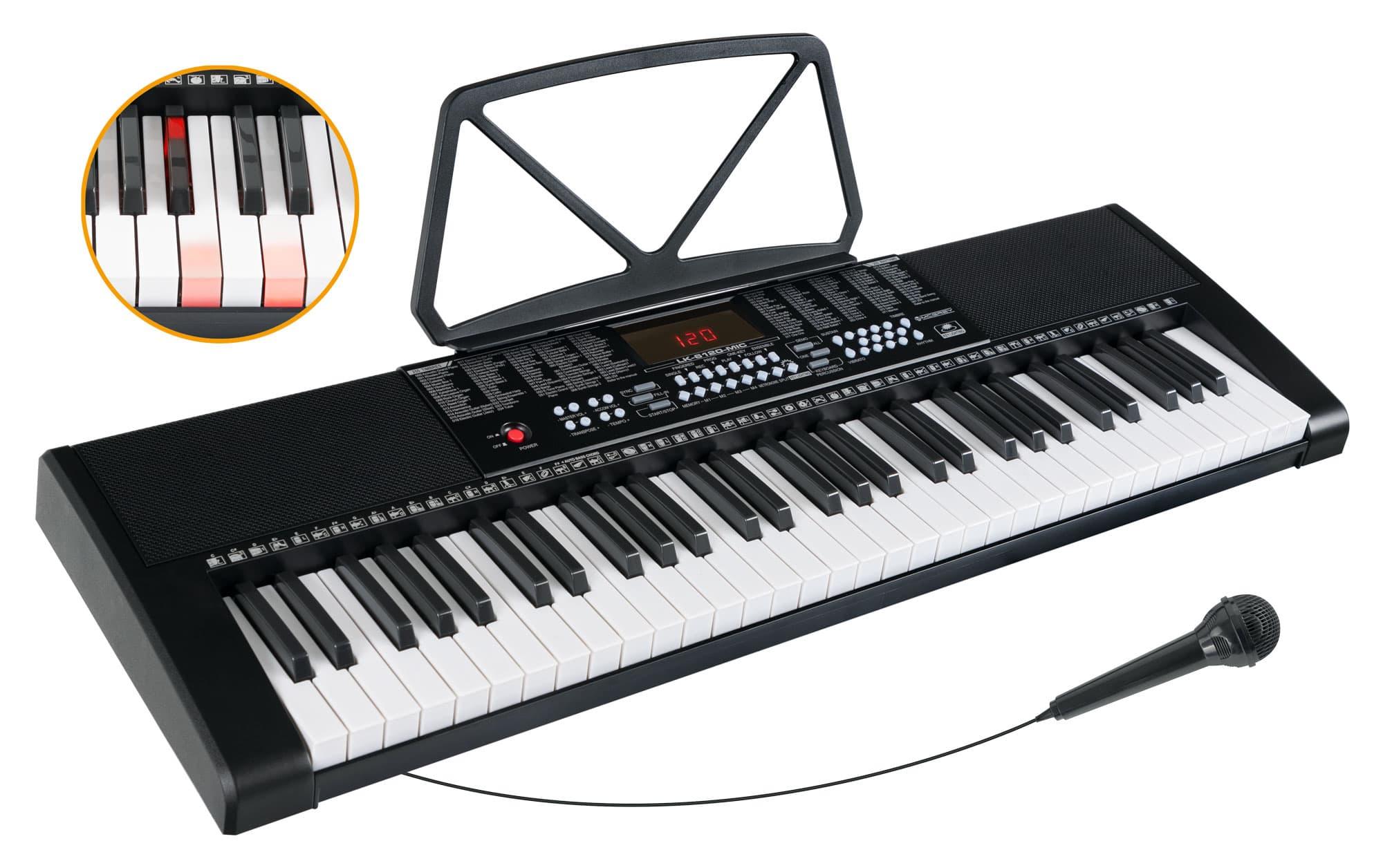 Homekeyboards - McGrey LK 6120 MIC Leuchttasten Keyboard mit Mikrofon schwarz - Onlineshop Musikhaus Kirstein