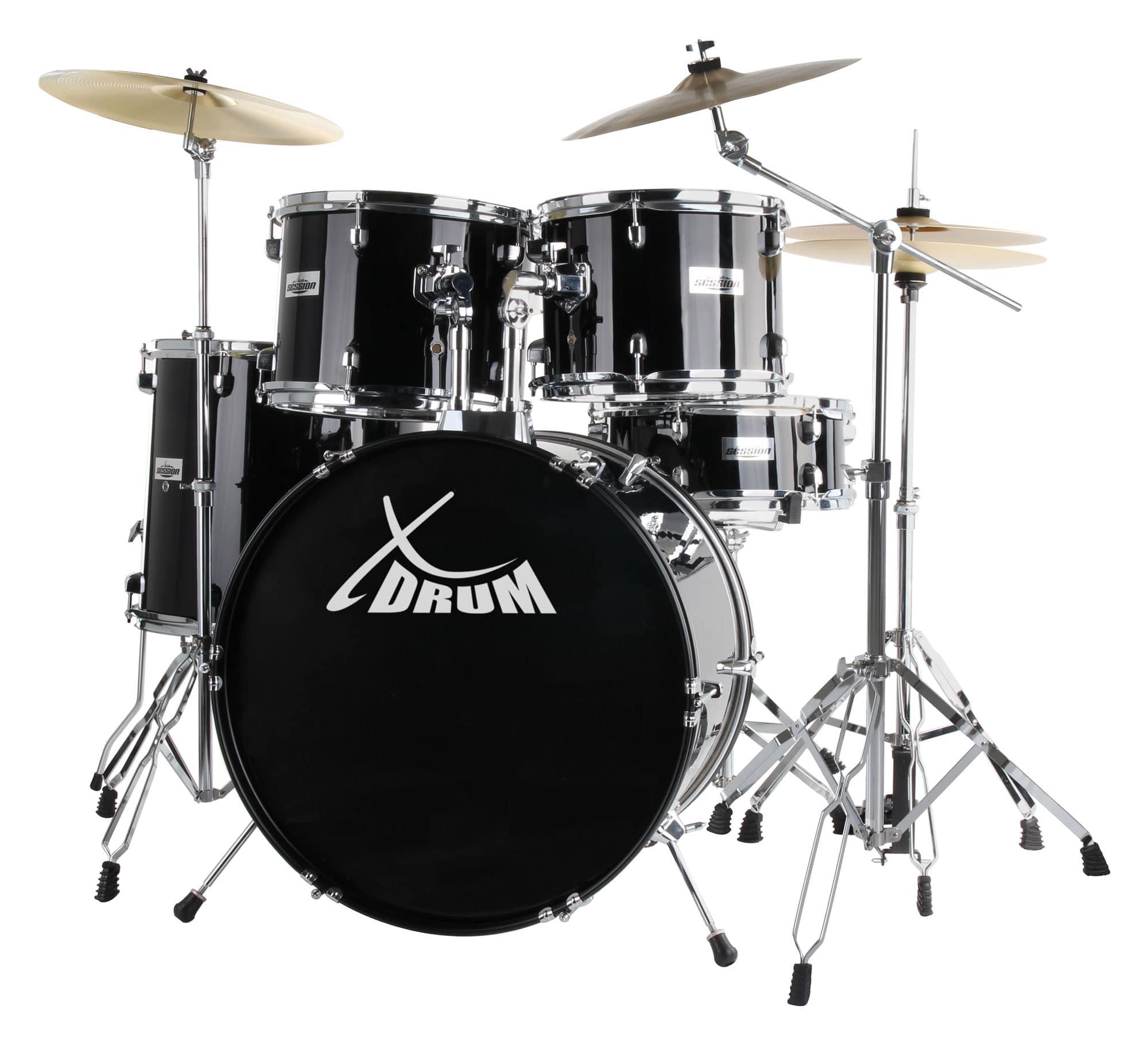 Bateria-Acustica-Tambor-22-034-Percusion-Drum-Set-Soporte-de-Brazo-Platillos-Pedale
