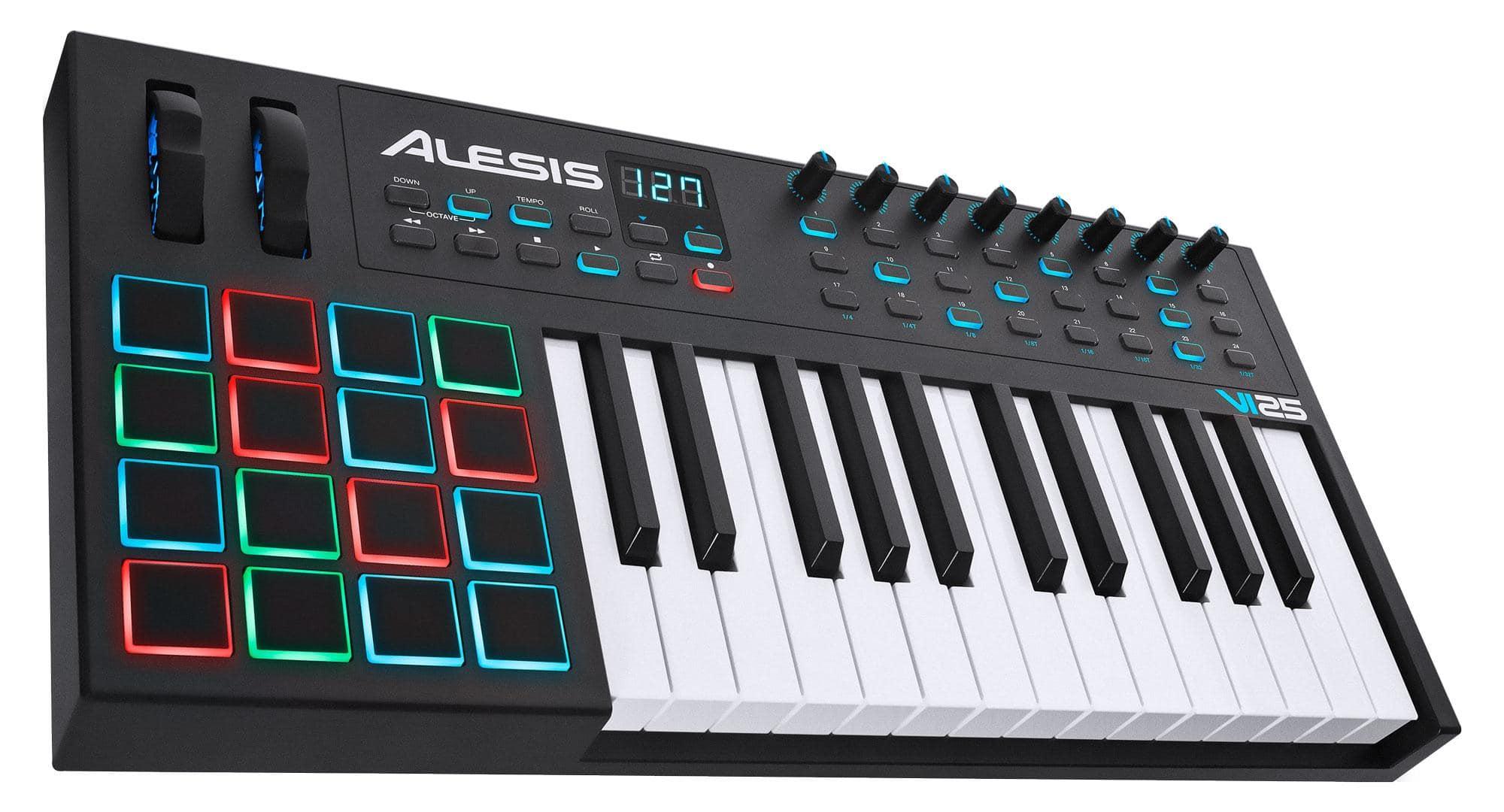 Midimasterkeyboards - Alesis VI25 USB MIDI Pad|Keyboard Controller mit 25 Tasten - Onlineshop Musikhaus Kirstein