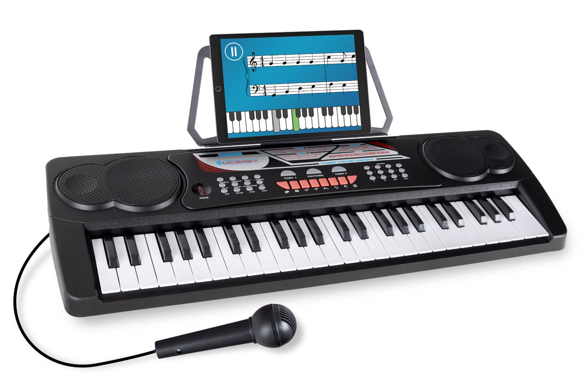 McGrey BK 4910 Keyboard mit 49 Tasten und Notenhalter