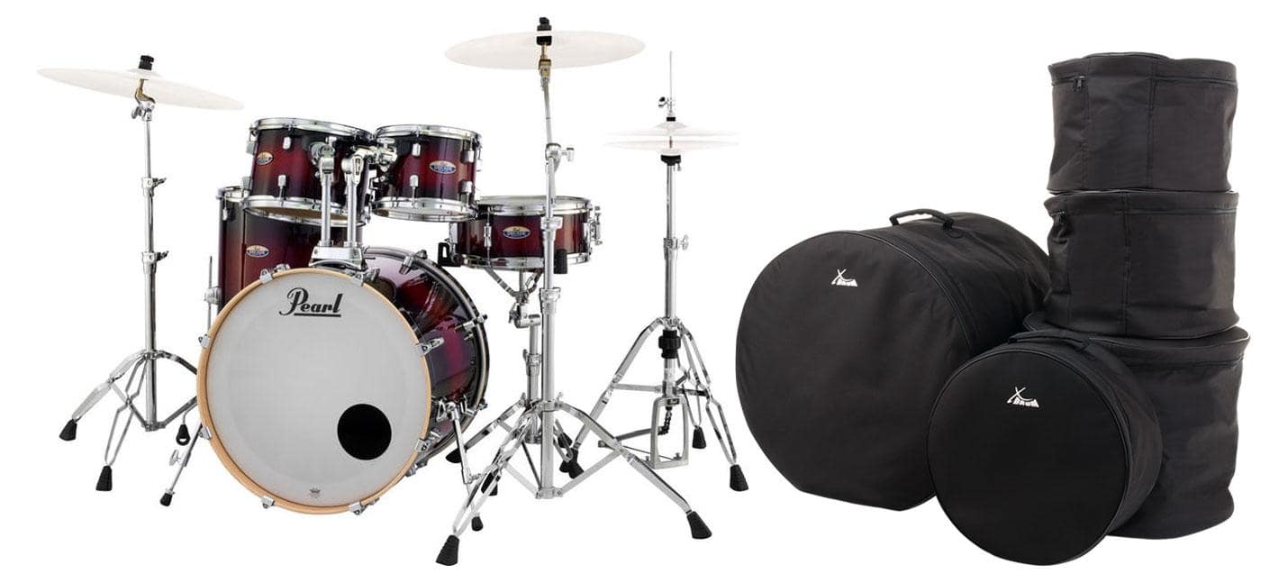 Pearl DMP905|C261 Decade Maple Gloss Deep Red Burst Set inkl. Gigbags