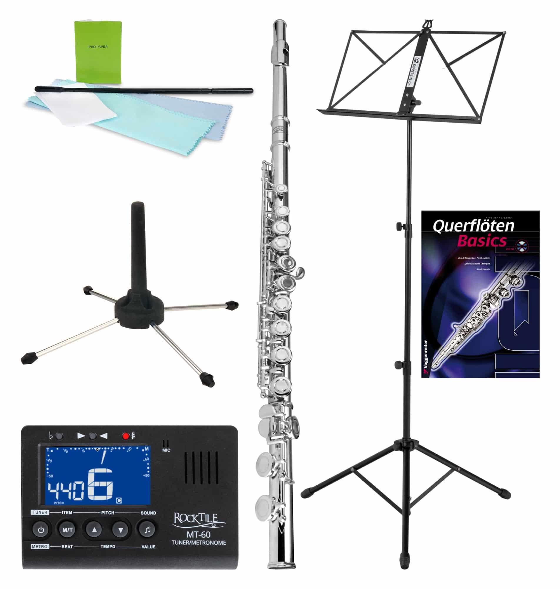 Sonstigeblasinstrumente - Classic Cantabile FL 200 Querflöten Set Noten - Onlineshop Musikhaus Kirstein