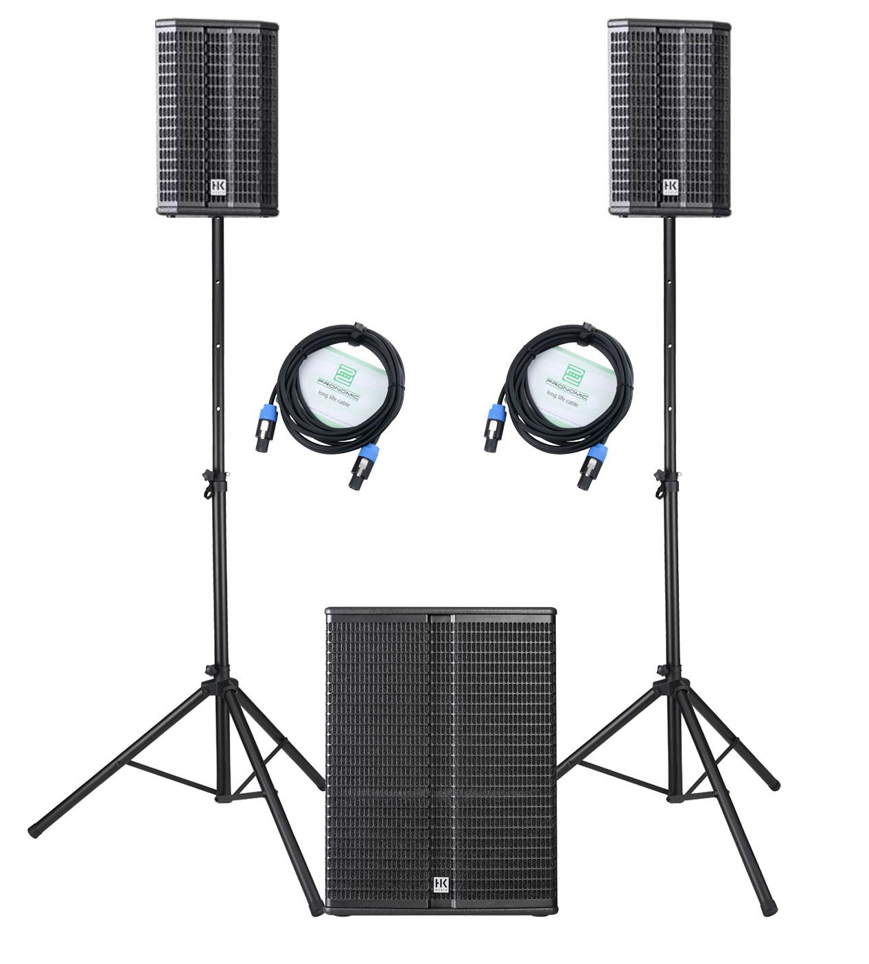Boxenkomplettanlagen - HK Audio Lucas 2K18 System Aktivanlage Set inkl. Boxenstativ und Kabel - Onlineshop Musikhaus Kirstein