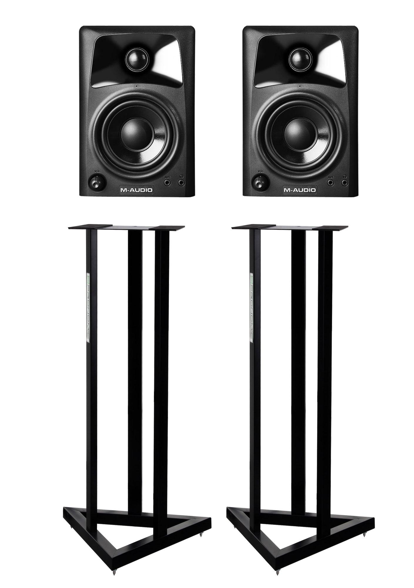 M Audio Studiophile AV42 Paar SET mit Stative
