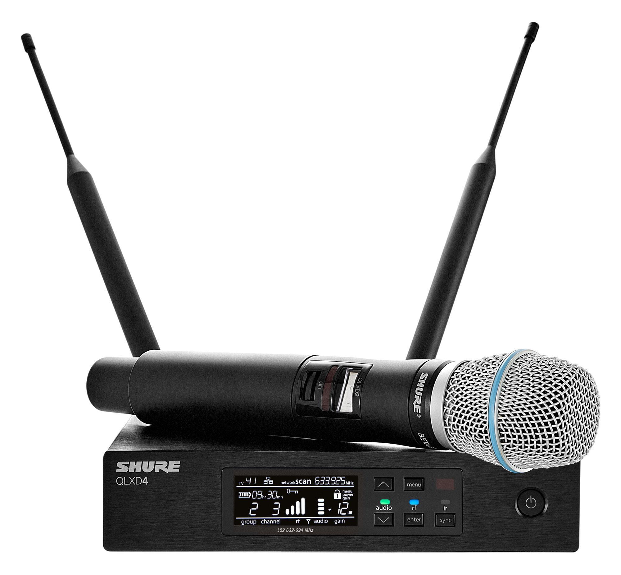 Shure QLXD24|B87 Z18 Digital Vocal Funksystem