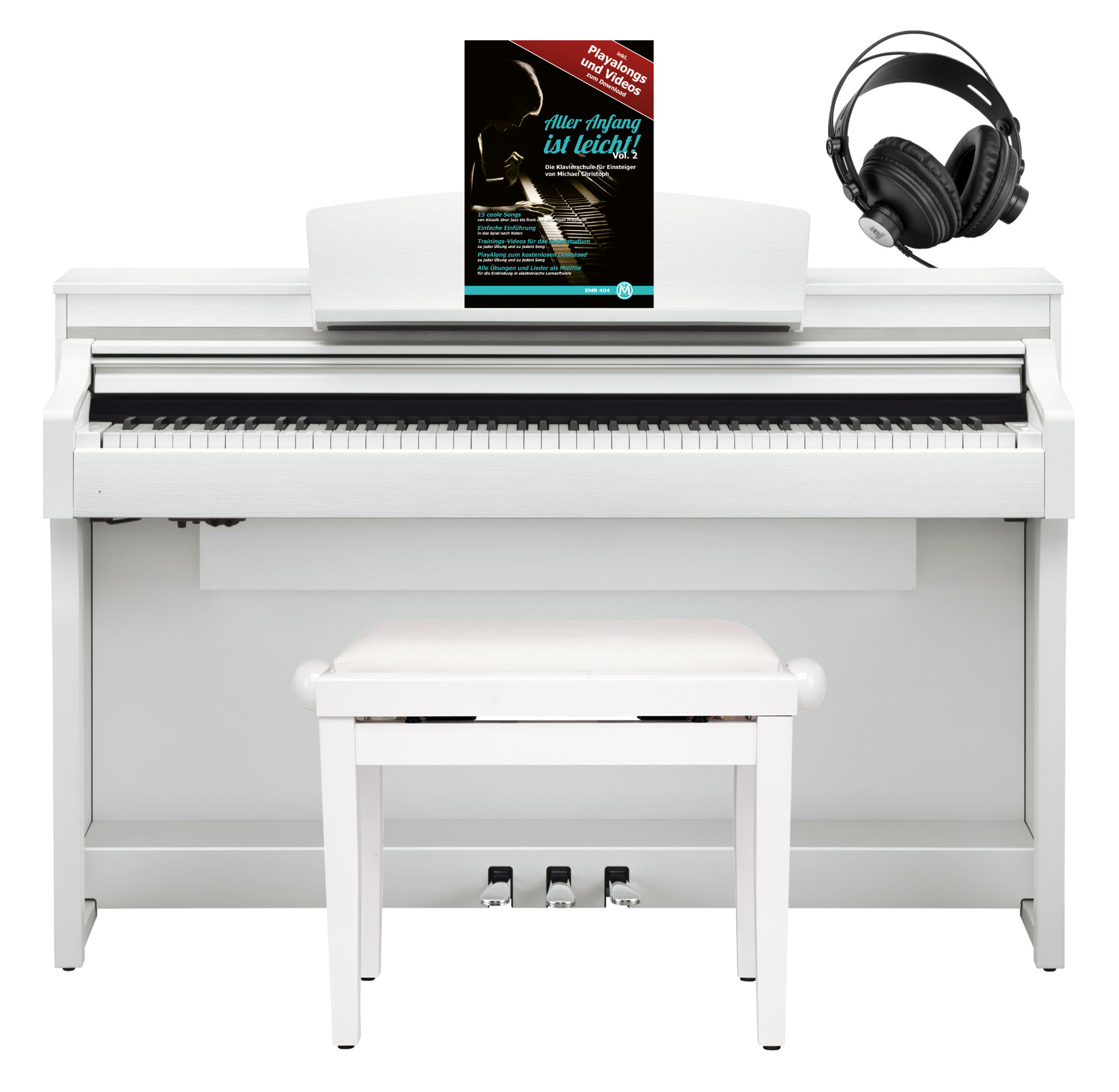 Yamaha CSP 170 WH Digitalpiano Weiß SET mit Kopfhörer, Bank Schule