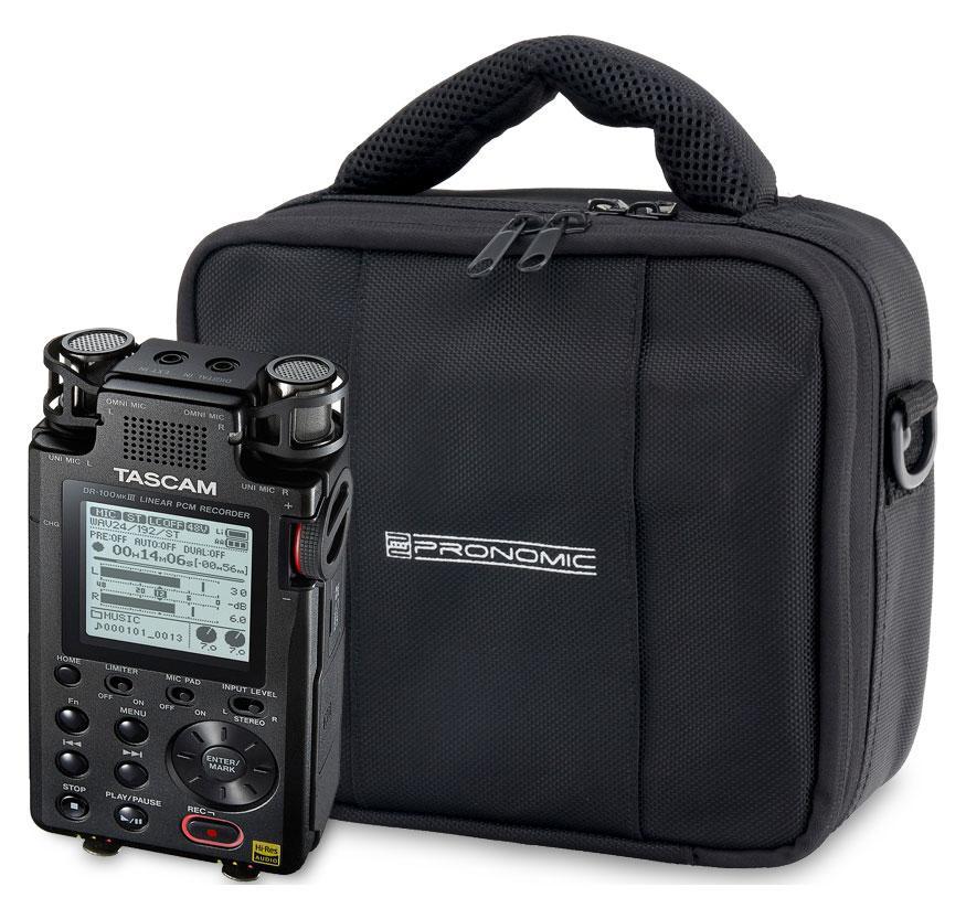 Recording - Tascam DR 100 MK3 Digitalrecorder Set inkl. Tasche - Onlineshop Musikhaus Kirstein