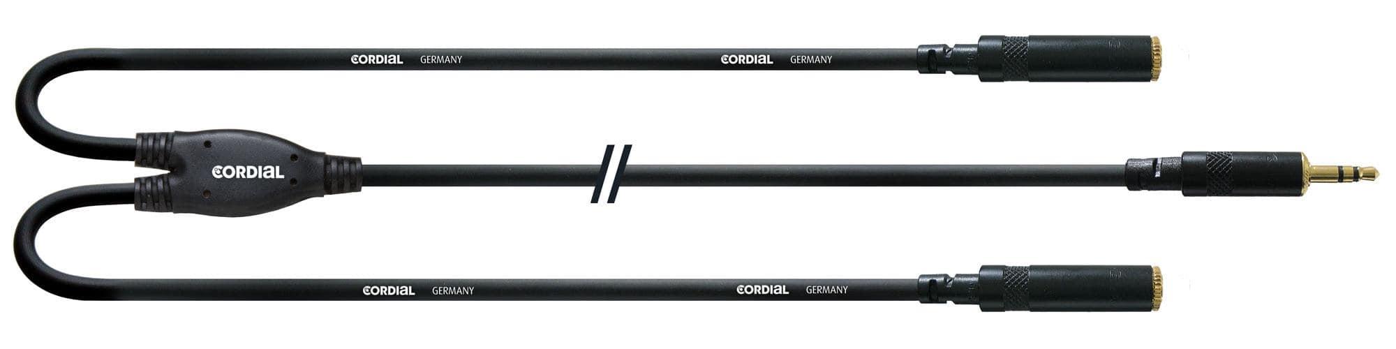 Kabelmulticores - Cordial CFY 0,3 WYY Klinkenkabel Y Adapter 0,3 m - Onlineshop Musikhaus Kirstein