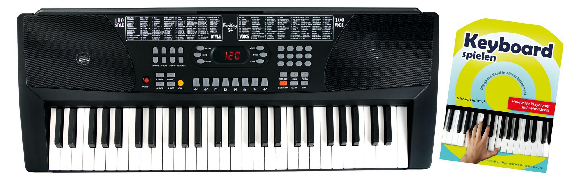 Homekeyboards - FunKey 54 Keyboard Set inkl. Netzteil, Notenhalter und Schule - Onlineshop Musikhaus Kirstein