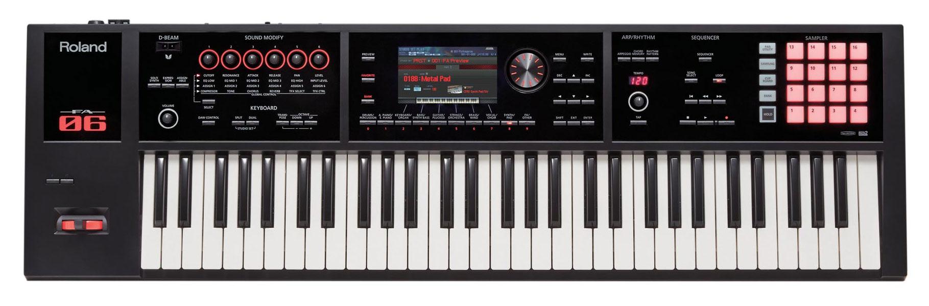 Roland FA 06 Synthesizer Workstation