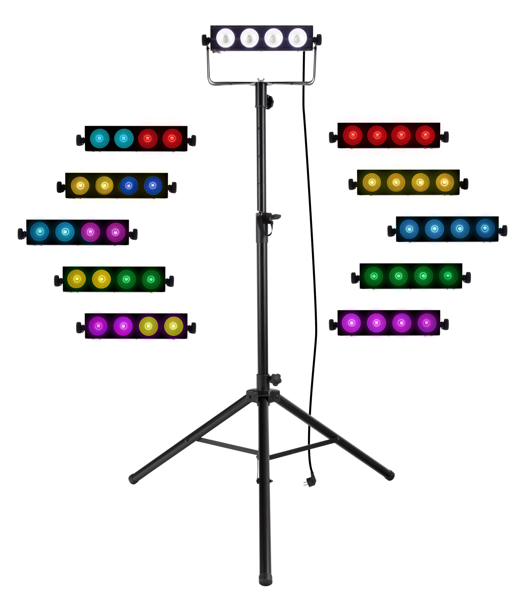 Lichtsets - Involight COBBAR415 LED Matrix Bar Set mit Stativ - Onlineshop Musikhaus Kirstein