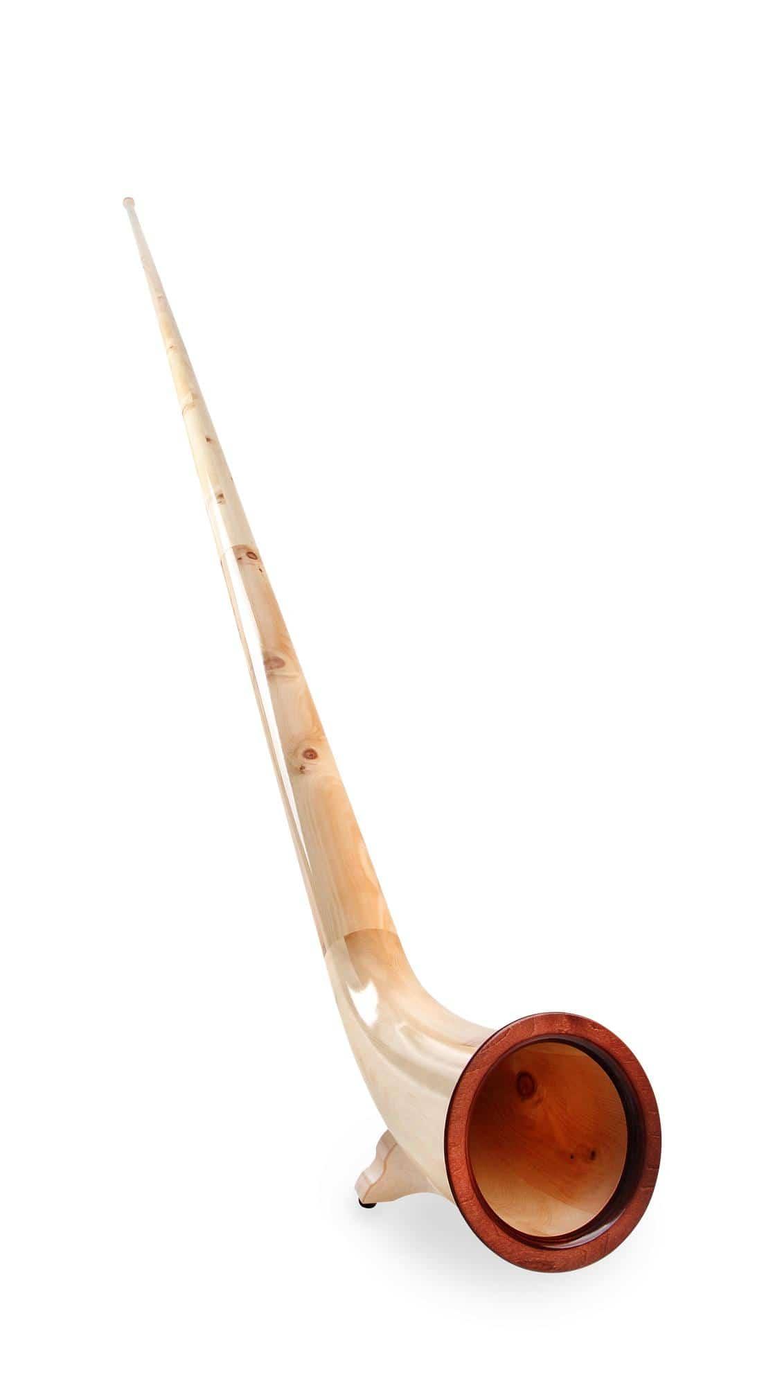Lechgold Alphorn Solist Fis 347 cm 3 teilig Zirbe