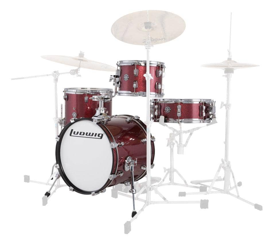 Ludwig LC179XX016 Breakbeats Shellset Wine Red Sparkle