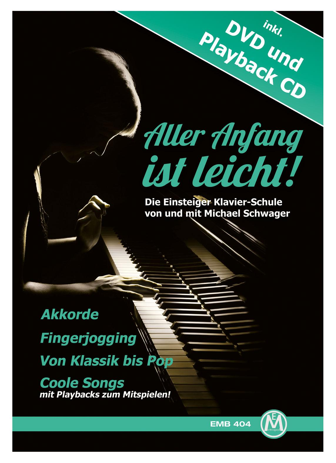 Klavierlernen - Michael Schwager, Aller Anfang ist leicht, Klavierschule DVD und Playback CD - Onlineshop Musikhaus Kirstein