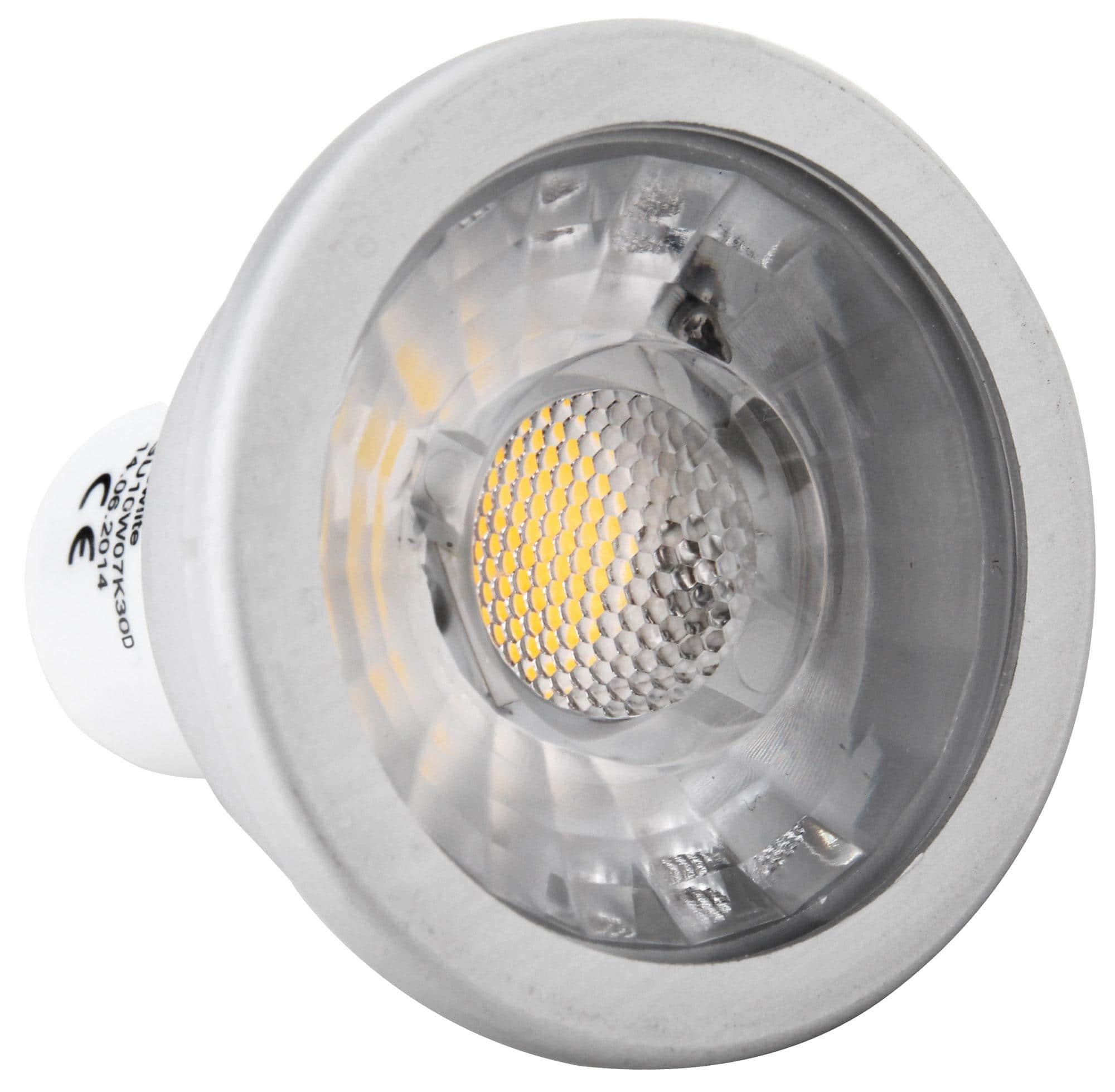 showlite led spot cob gu10w07k30d 7 watt 550 lumen sockel gu10 3000 kelvin dimmbar. Black Bedroom Furniture Sets. Home Design Ideas