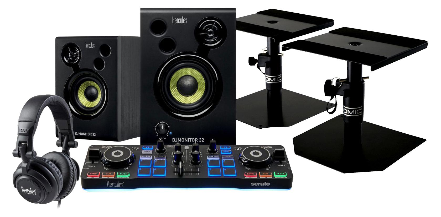 Hercules DJStarter Kit mit Tischstativen