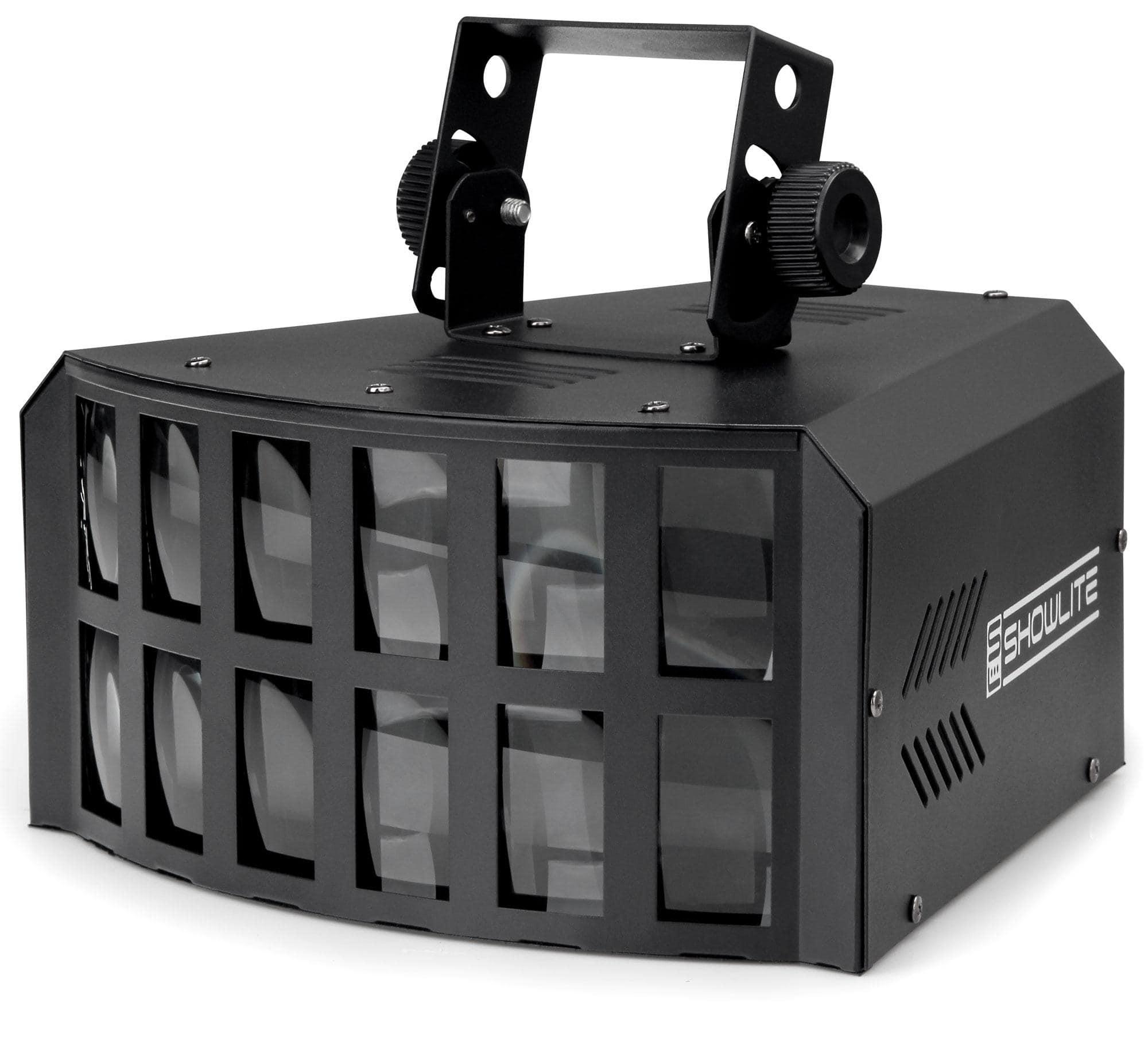 Showlite LD 4x3W LED Doppel Derby Lichteffekt RGBA