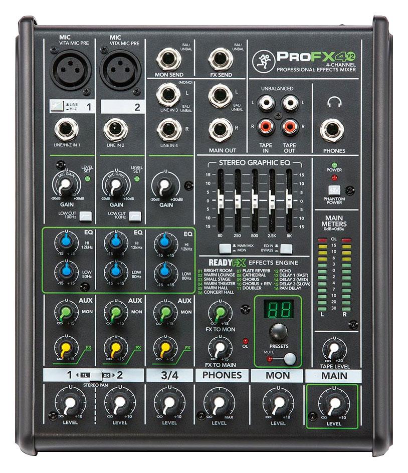 Mikrofone - Mackie ProFX4v2 Mischpult Retoure (Zustand Verpackungsschaden) - Onlineshop Musikhaus Kirstein