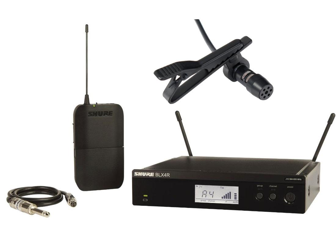 Drahtlossysteme - Shure BLX14R S8 Rack Funksystem Set inkl. Lavaliermikrofon - Onlineshop Musikhaus Kirstein