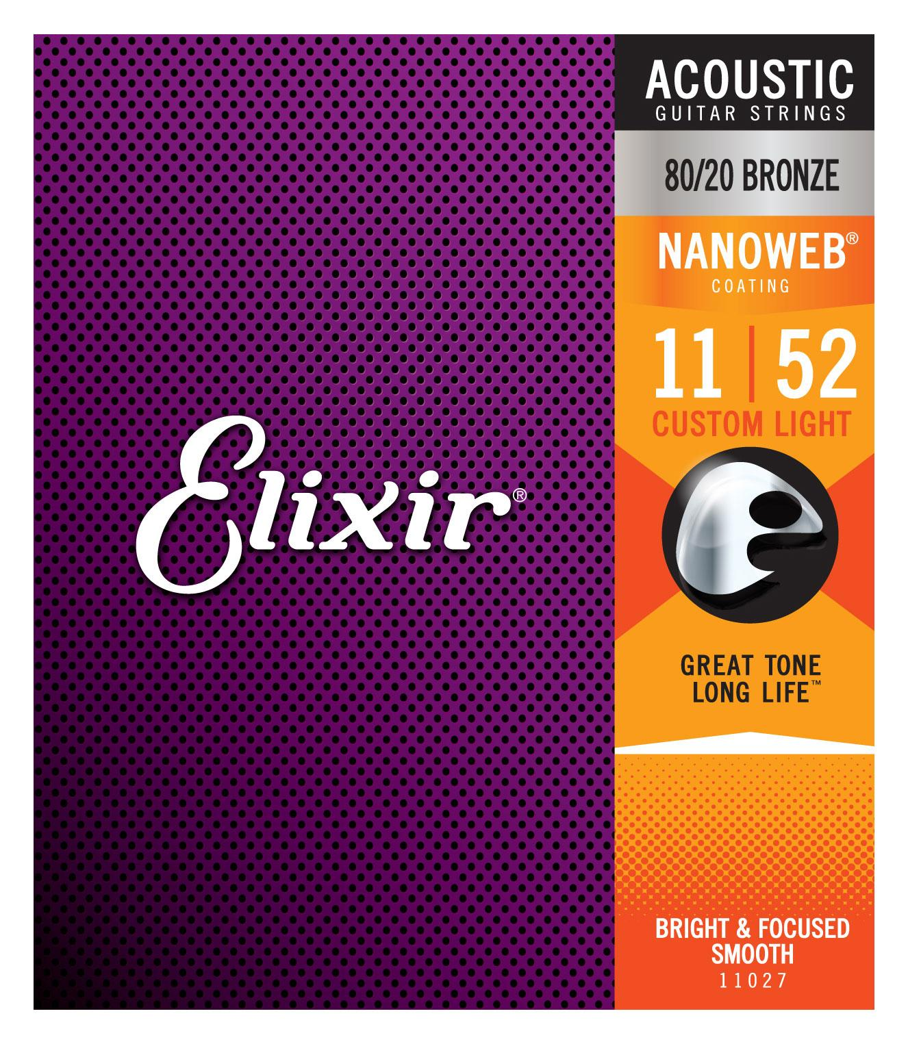 Elixir Akustik 80|20 Nanoweb Custom Light