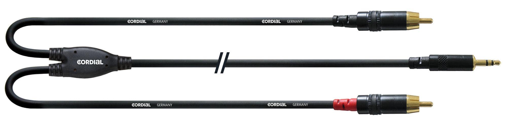 Cordial CFY 3 WCC 3,5 mm Klinke stereo 2 x Cinch 1,5 m