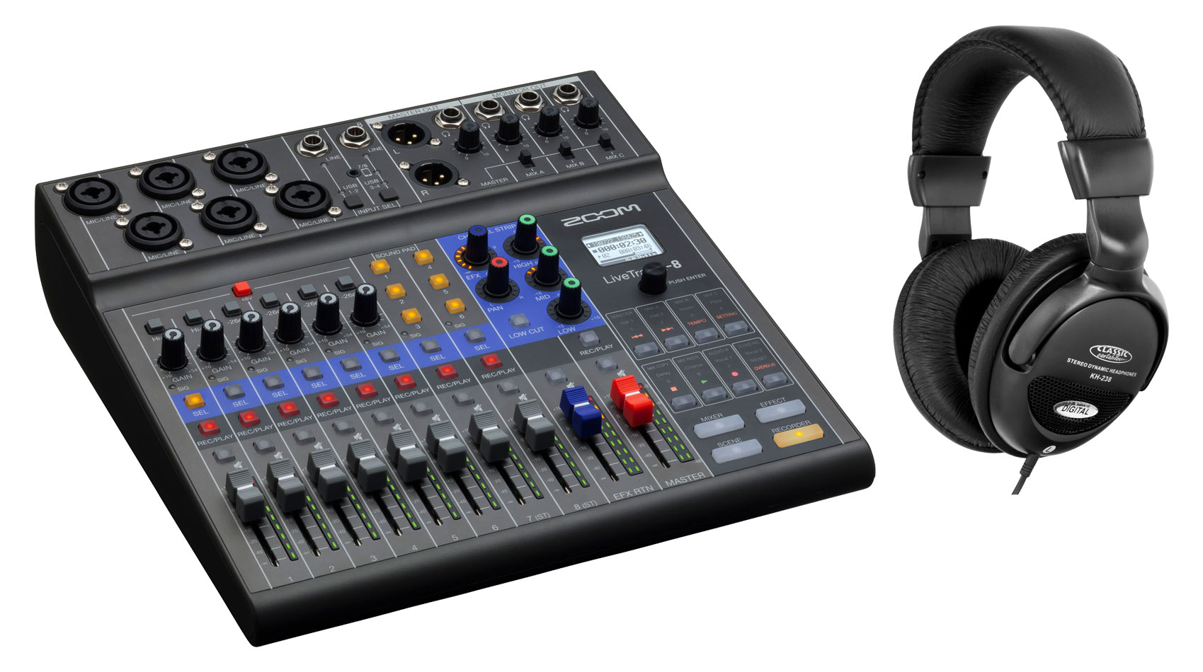 Mischpulte - Zoom LiveTrak L 8 Podcast Mixer Set - Onlineshop Musikhaus Kirstein