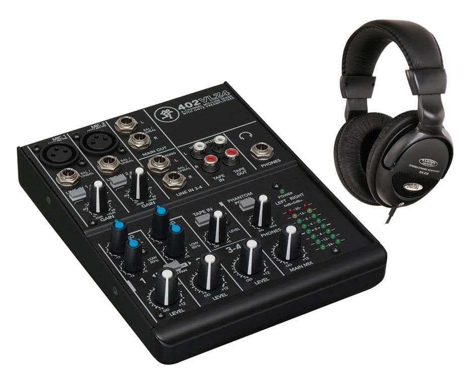 Mischpulte - Mackie 402VLZ4 Mischpult mit Kopfhörer Set - Onlineshop Musikhaus Kirstein