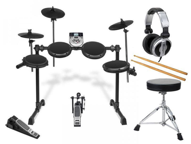 Alesis DM7X Session Kit E Drum Set mit Hocker, Kopfhörer und Sticks