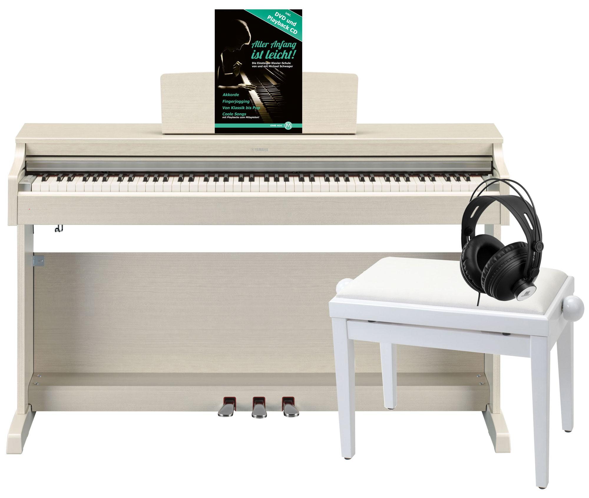 Yamaha YDP 163 WA Arius E Piano Weißesche Deluxe Set