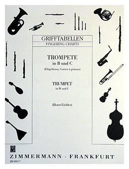 Trompetelernen - Grifftabelle für Trompete in B und C von Horst Eichler - Onlineshop Musikhaus Kirstein