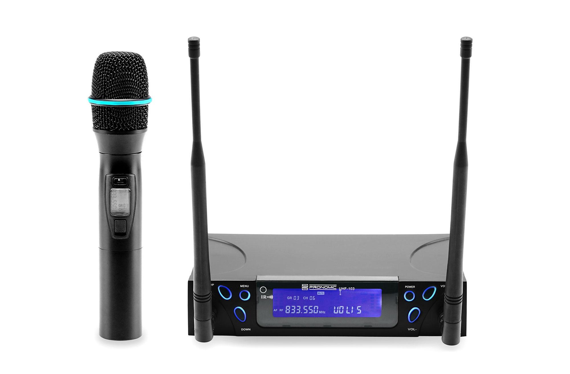 Pronomic UHF 103 True Diversity Hand Funkmikrofon Set Retoure (Zustand sehr gut)