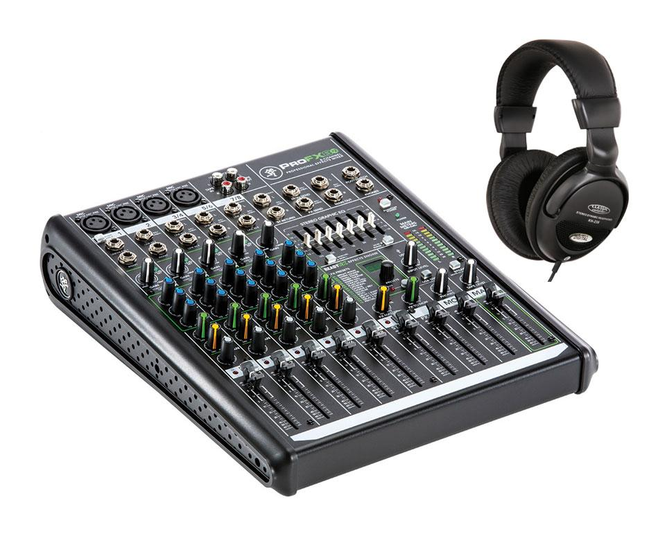 Mackie ProFX8v2 Mischpult mit Kopfhörer Set