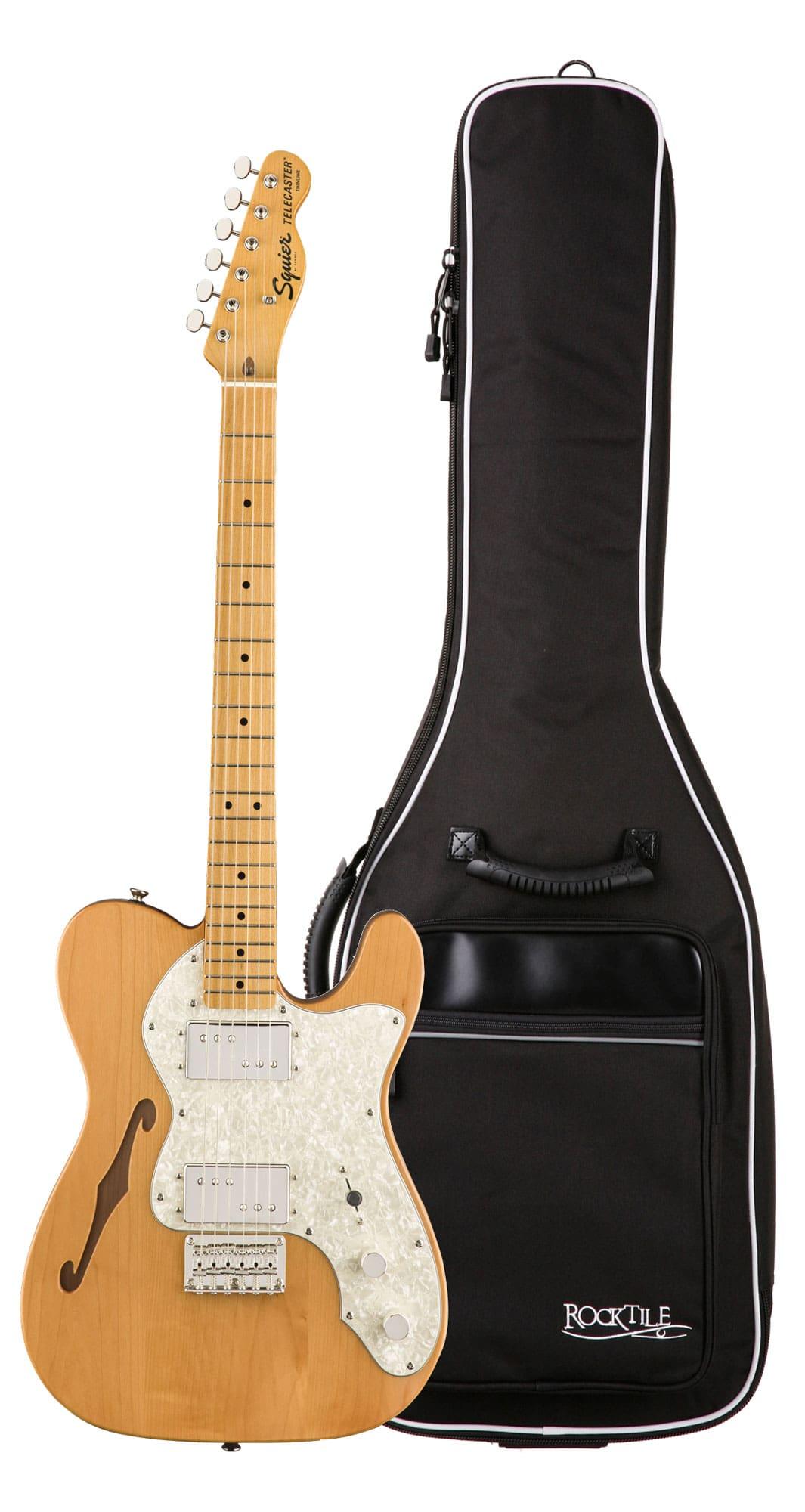 Egitarren - Fender Squier Classic Vibe '70s Tele Thinline MN NAT Gigbag Set - Onlineshop Musikhaus Kirstein