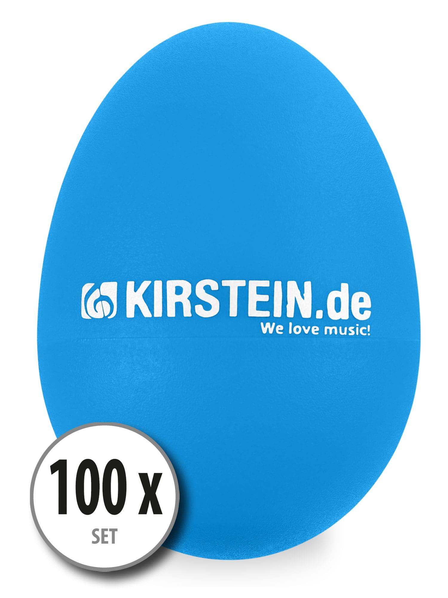 100x Kirstein ES 10B Egg Shaker blau Medium Set