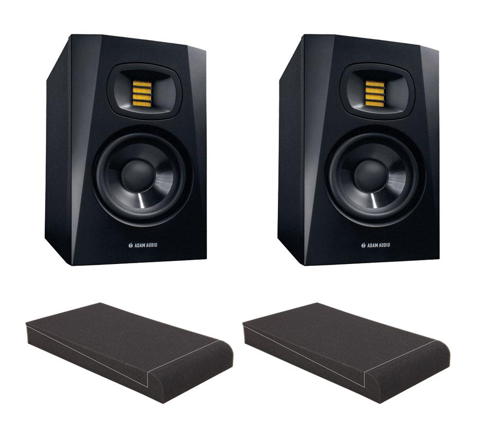Adam Audio T5V Set mit 5' Absorberplatten