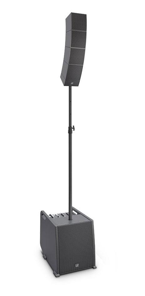 LD Systems CURV 500 ES Aktivanlage inkl. Distanzstange Lautsprecherkabel Retoure (Zustand sehr gut)