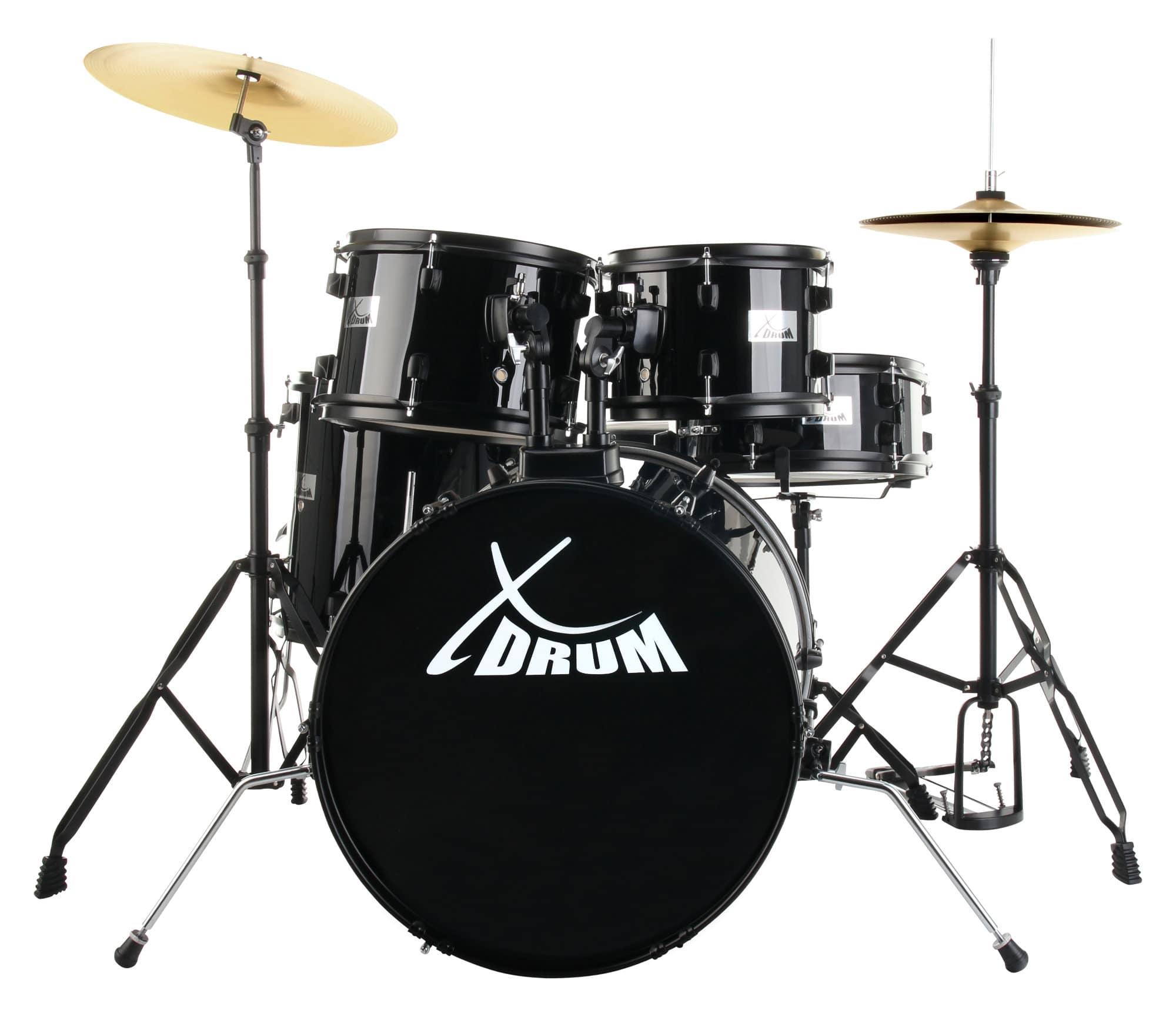 XDrum Rookie 20' Studio Schlagzeug Komplettset Black inkl. Schule DVD