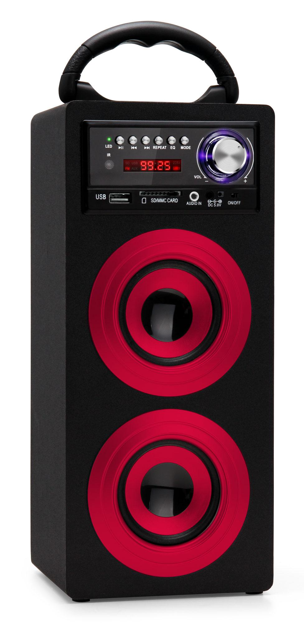 mobiler bluetooth lautsprecher mini stereo anlage usb sd aux mp3 player fm radio ebay. Black Bedroom Furniture Sets. Home Design Ideas