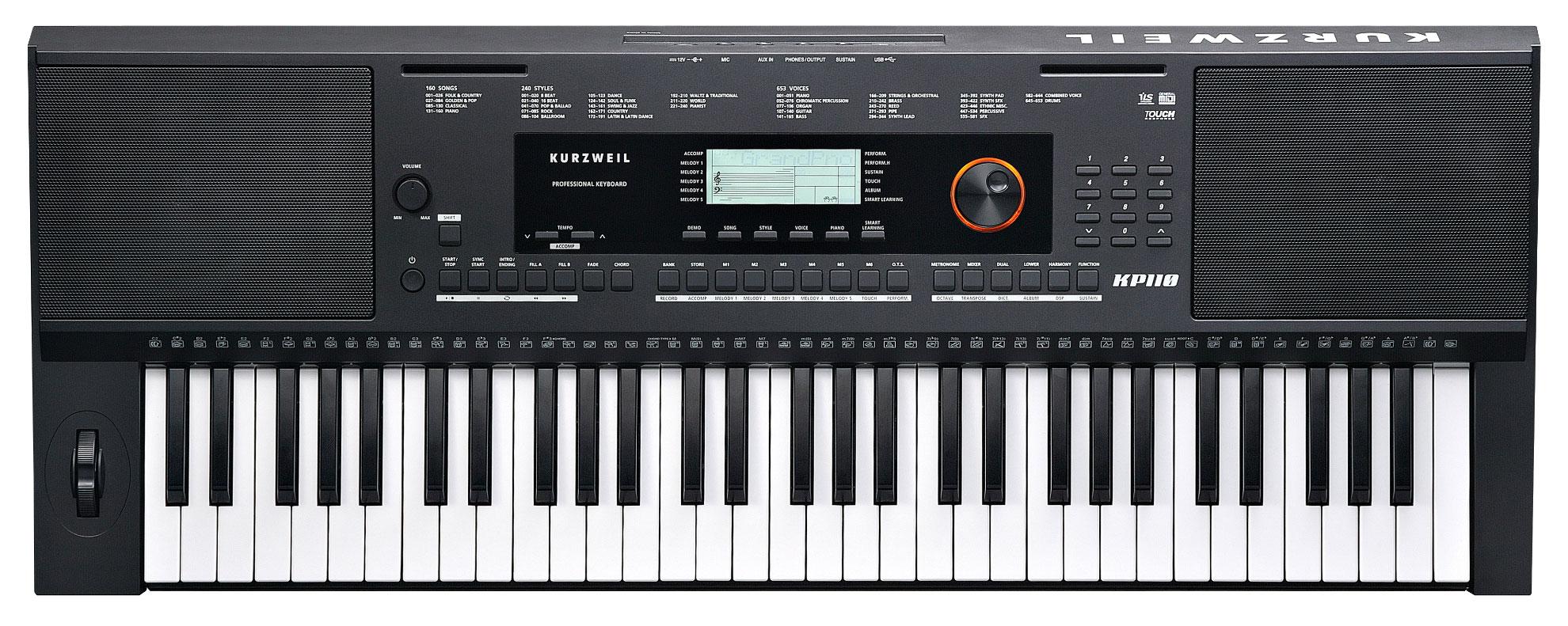 Homekeyboards - Kurzweil KP110 Arranger Keyboard - Onlineshop Musikhaus Kirstein