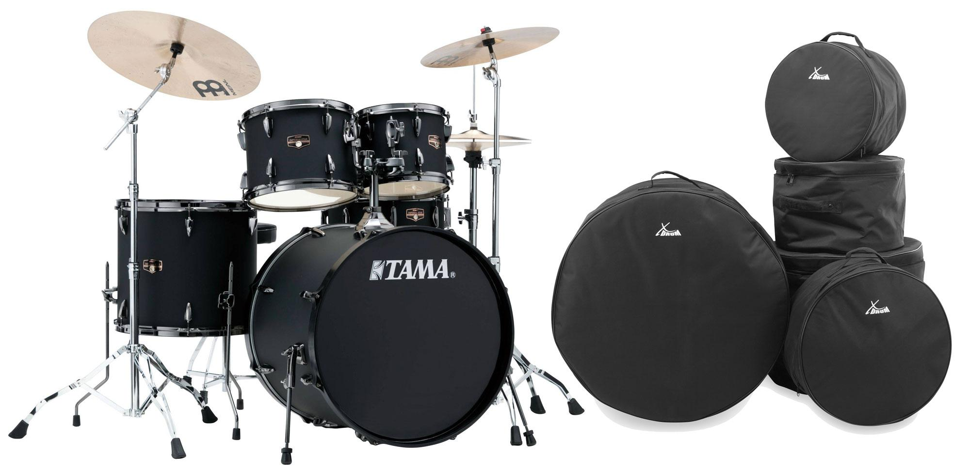 Tama IP52KH6N BBOB Imperialstar Drumkit Blacked Out Black Set inkl. Gigbags