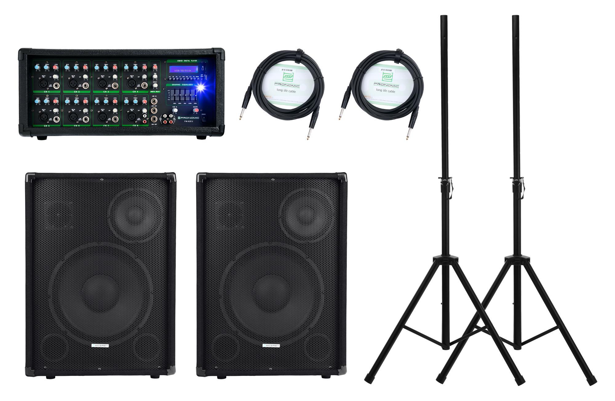 Pronomic PM82 Party StagePower Set