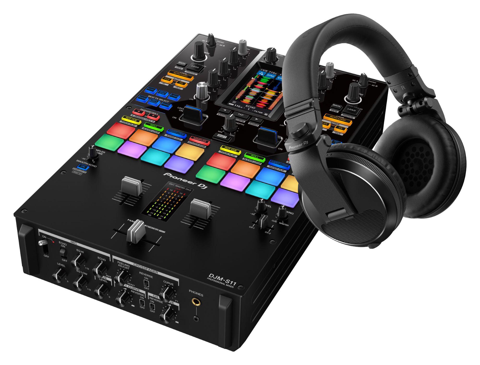 Djmixer - Pioneer DJ DJM S11 HDJ X5 K Schwarz SET - Onlineshop Musikhaus Kirstein